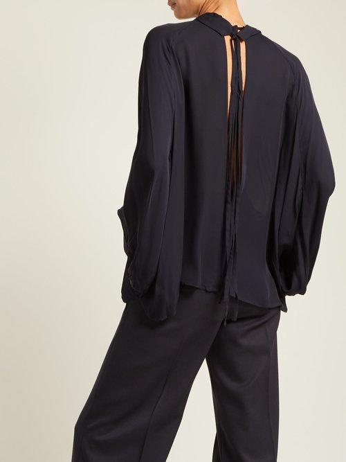 Elianna High Neck Silk Blouse by Nili Lotan