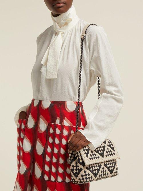 Olimpia Intrecciato leather cross-body bag by Bottega Veneta