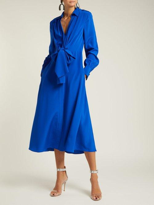 Von Waist Tie Silk Dress by Diane Von Furstenberg