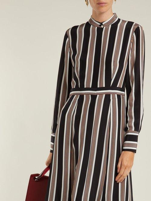 Harley striped silk crepe de Chine shirtdress by Diane Von Furstenberg