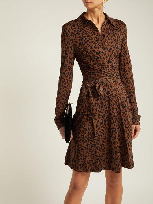 Didi Leopard Print Silk Wrap Dress by Diane Von Furstenberg