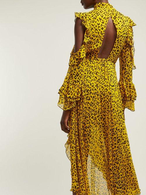 Heyford Leopard Print Silk Chiffon Wrap Dress by Diane Von Furstenberg