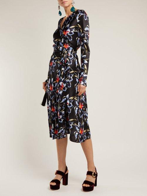 Tilly Lanell Print Silk Wrap Dress by Diane Von Furstenberg