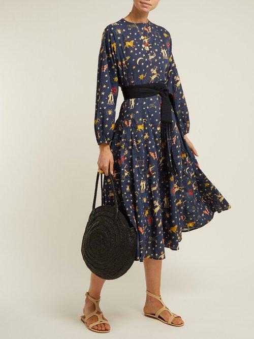 Devi Cotton Midi Dress by Rhode Resort