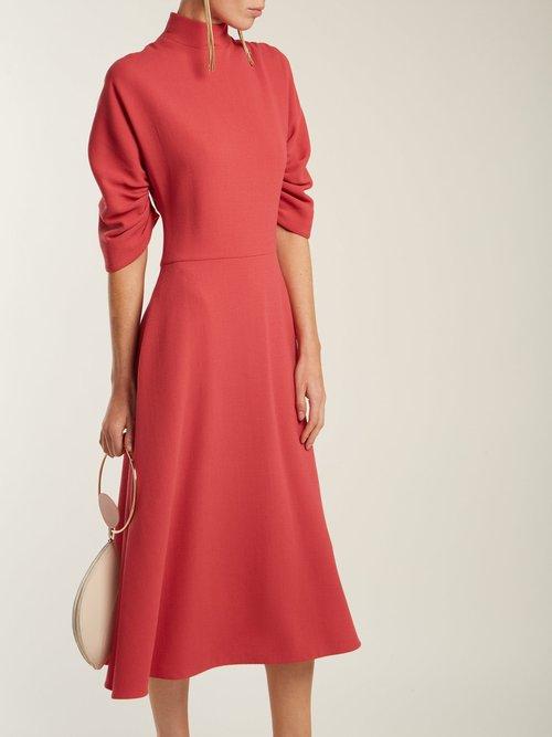 Marvel Wool Crepe Dress by Emilia Wickstead