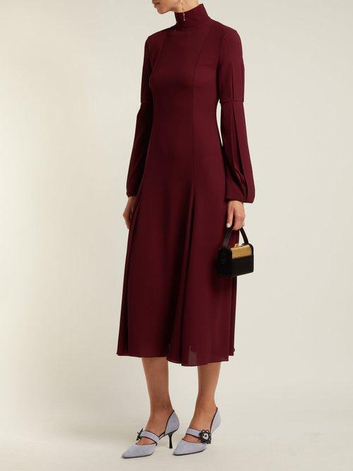 Margorina High Neck Midi Dress by Emilia Wickstead