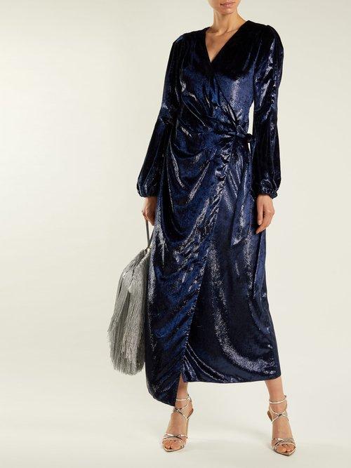 Assia velvet wrap dress by Maria Lucia Hohan