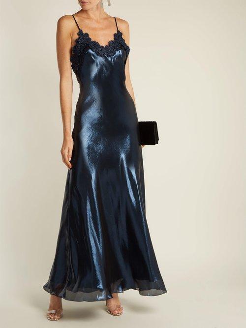 Layla silk-blend slip dress by Maria Lucia Hohan