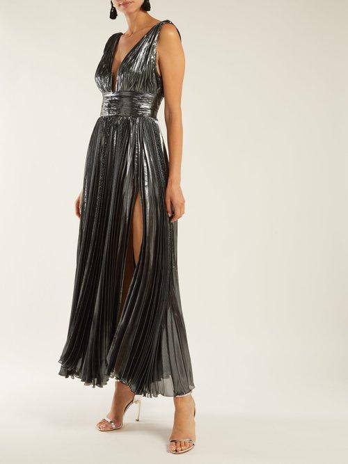 Sada pleated silk-blend gown by Maria Lucia Hohan