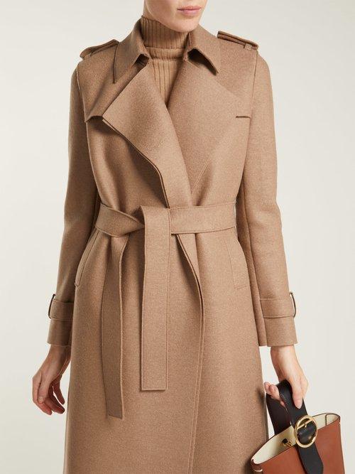 Layered Wool Trench Coat by Harris Wharf London