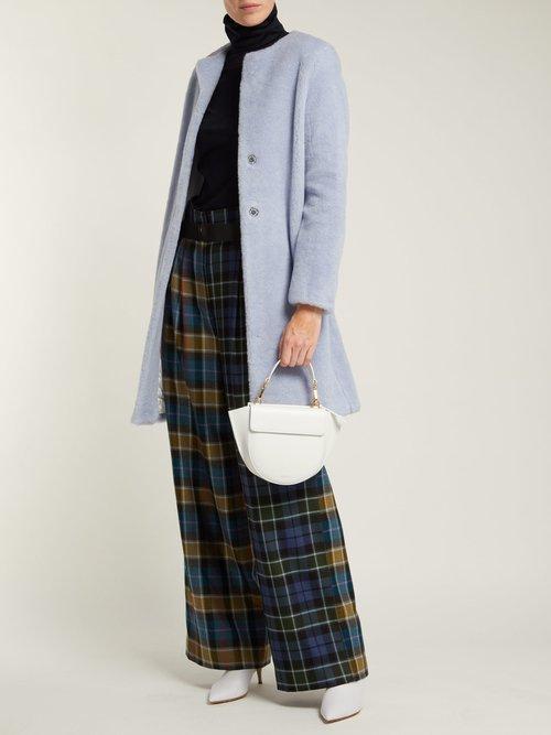 Single Breasted Wool Blend Coat by Harris Wharf London