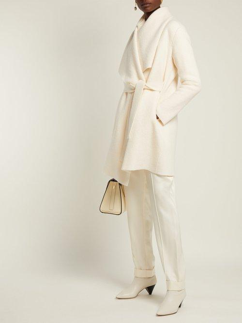 Single Breasted Draped Wool Coat by Harris Wharf London