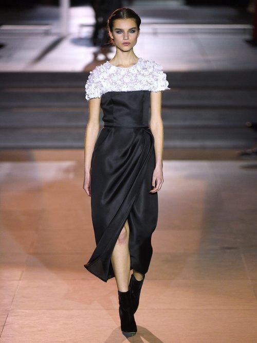 Embroidered Silk Organza Midi Dress by Carolina Herrera