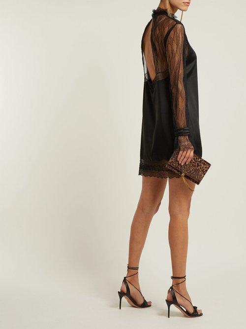 Lace And Satin Mini Dress by Jonathan Simkhai
