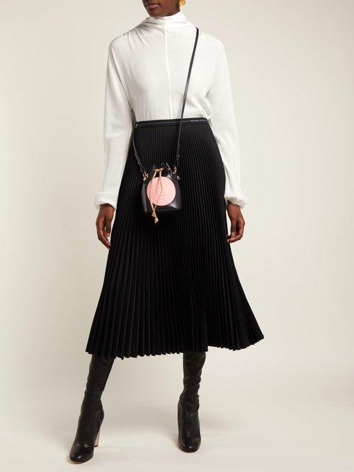 Mon Tresor leather mini bucket bag by Fendi