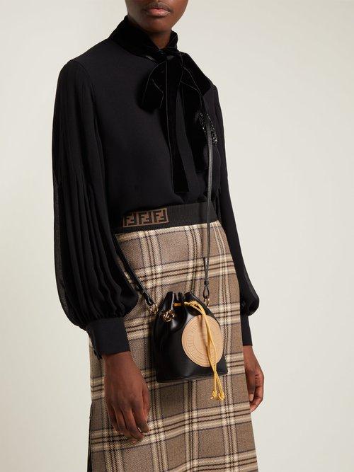 Mon Tresor mini leather bucket bag by Fendi