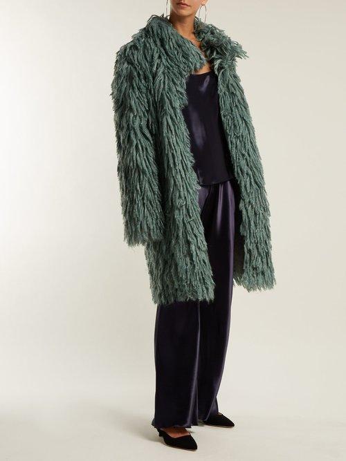Shaggy Oversized Coat by Bottega Veneta