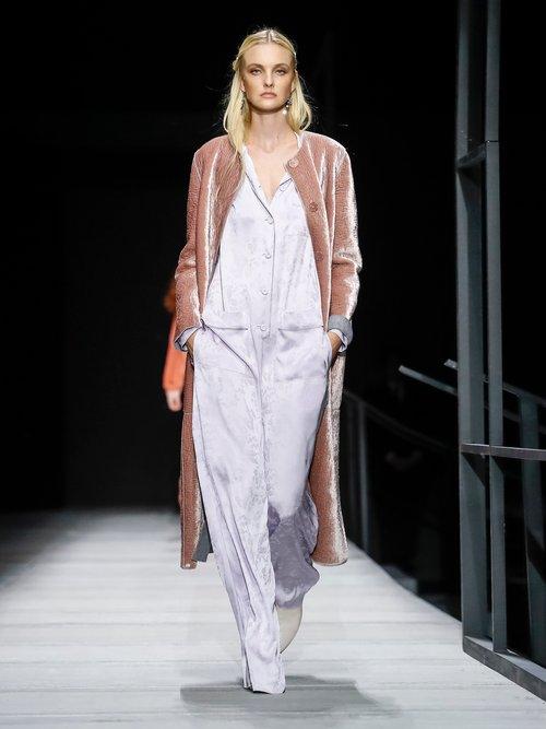 Velvet Belted Coat by Bottega Veneta