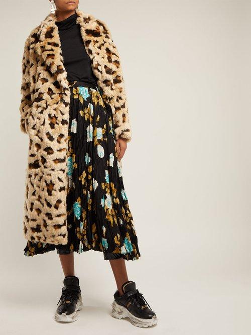 Leopard Print Faux Fur Coat by Junya Watanabe