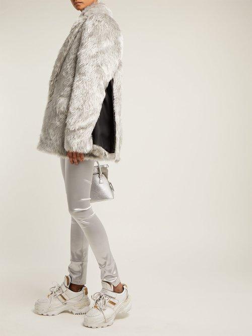 Split Sleeve Faux Fur Coat by Junya Watanabe