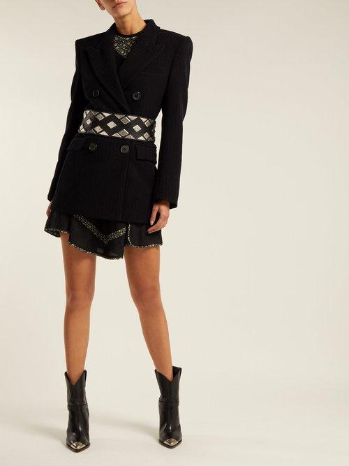 Jaxen Double Breasted Wool Blend Blazer by Isabel Marant