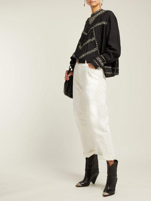 Moony Oversized Linen Top by Isabel Marant