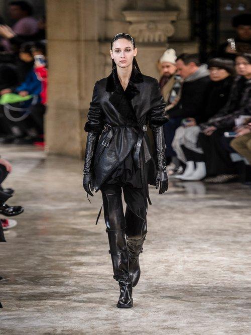 Amrita Shearling Wrap Jacket by Ann Demeulemeester