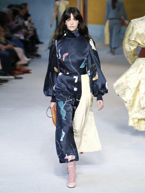 Ayve Abstract Print Contrast Panel Dress by Roksanda