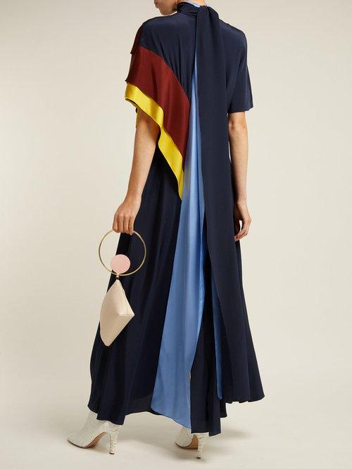 Arisha Draped Silk Dress by Roksanda
