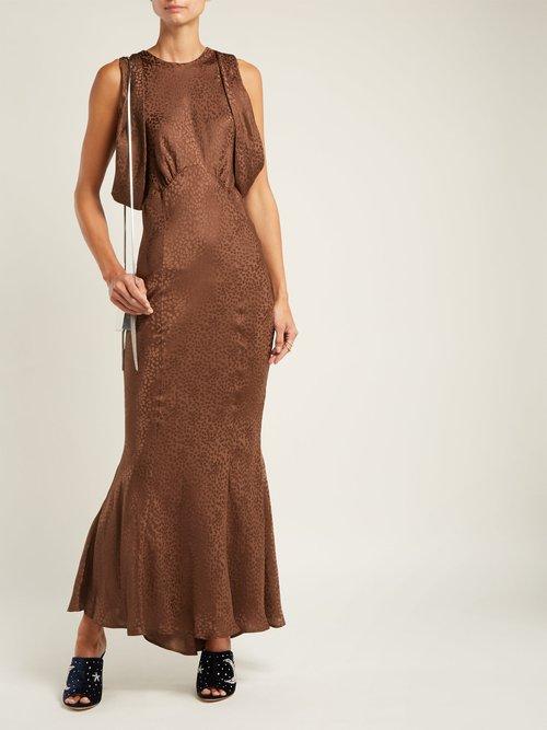 Cheetah-jacquard silk dress by Attico