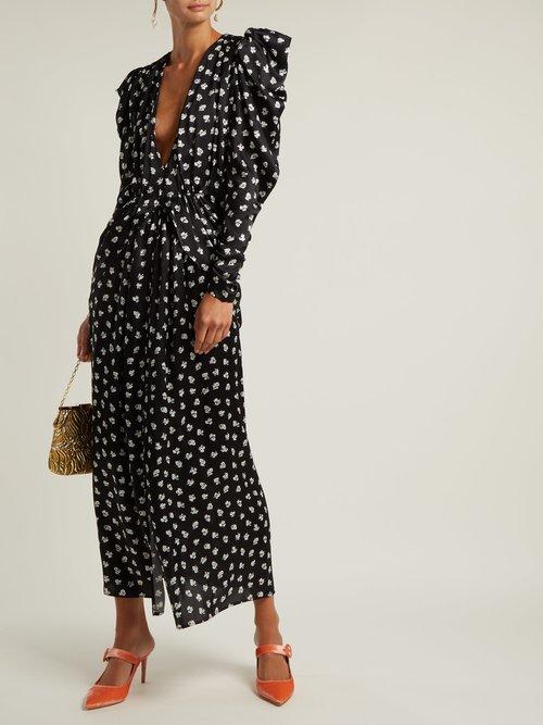 Barcelona floral-print silk-chiffon dress by Attico