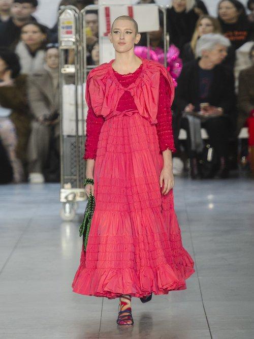 Dorothy smocked poplin gown by Molly Goddard