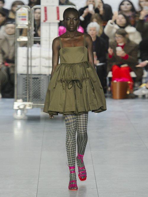 Phillipa Cotton Twill Tiered Mini Dress by Molly Goddard