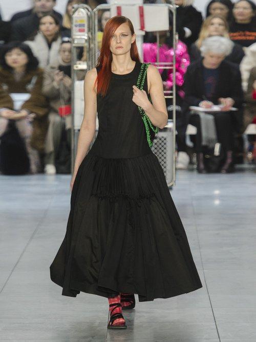 Lena drop-waist cotton-poplin gown by Molly Goddard