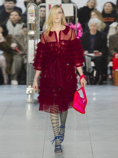 Kizzy Ruffled Tulle Coat by Molly Goddard