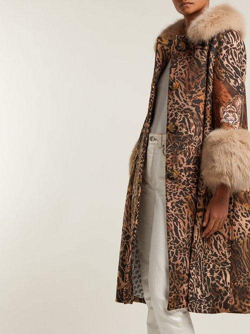 Yvonne Leopard Print Wool Coat by Saks Potts
