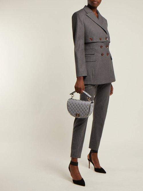 Rockstud Spike saddle bag by Valentino