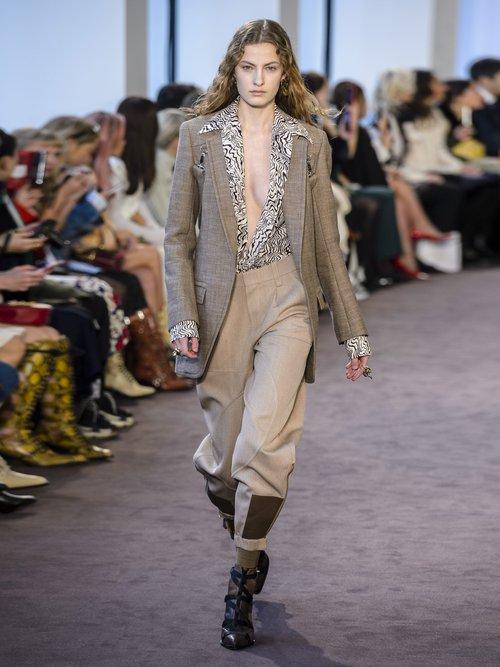 Long Tweed Harness Blazer by
