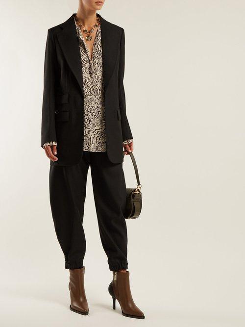 Single Breasted Wool Blazer by