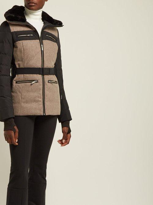 Mina Contrast Panel Down Filled Ski Jacket by Fusalp