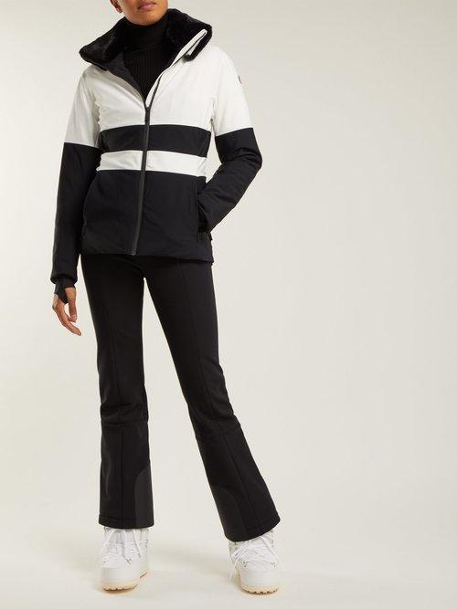 Levanne Striped Ski Jacket by Fusalp