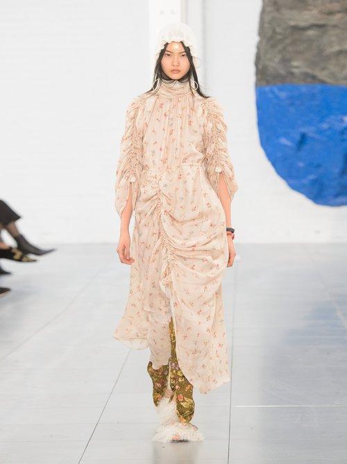 Zillie floral-print silk dress by Preen By Thornton Bregazzi