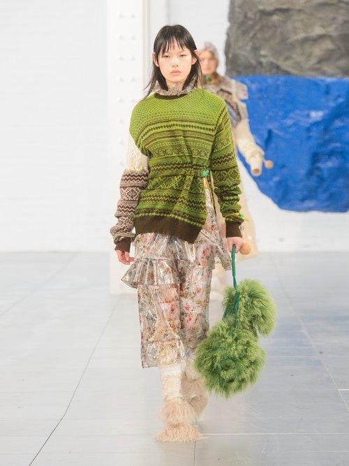 Photo of Moira Fair Isle Knit Wool Blend Sweater by Preen By Thornton Bregazzi - shop Preen By Thornton Bregazzi online sales