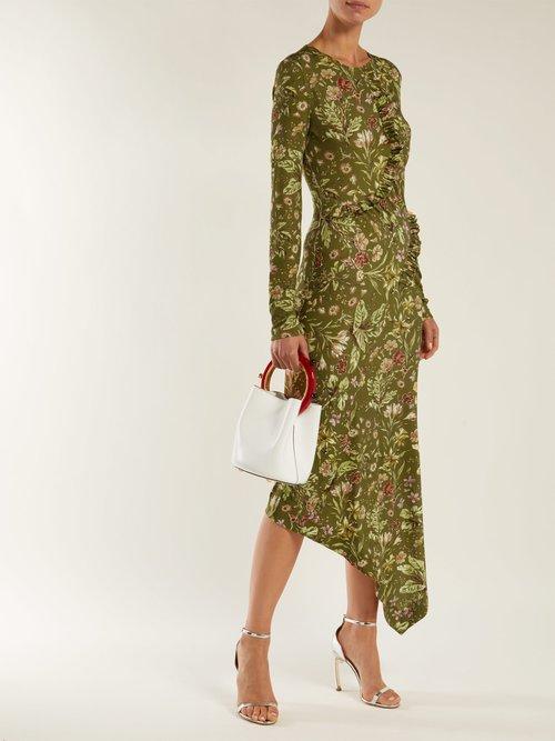 Nita floral-print stretch-crepe dress by Preen By Thornton Bregazzi