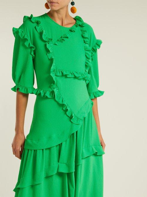 Cassidy ruffle-trim dress by Preen By Thornton Bregazzi