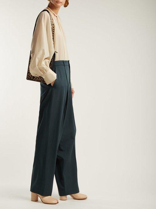 Niv Stocking silk neck-tie blouse by Joseph