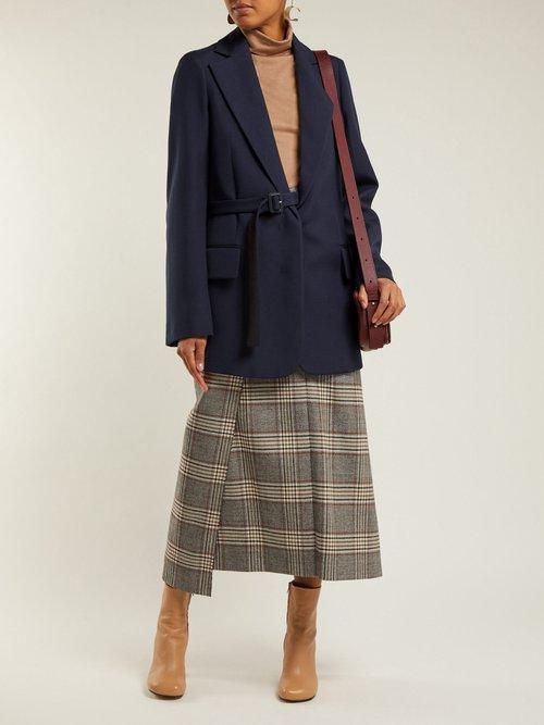 Gemina Single Breasted Wool Blend Jacket by Joseph