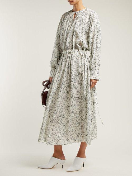Niven Mineral Print Silk Crepe Dress by Joseph