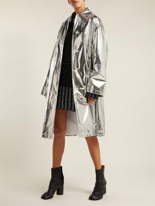 Metallic Rain Mac by MM6 Maison Margiela