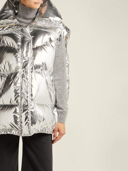 Detachable Sleeve Puffer Jacket by MM6 Maison Margiela